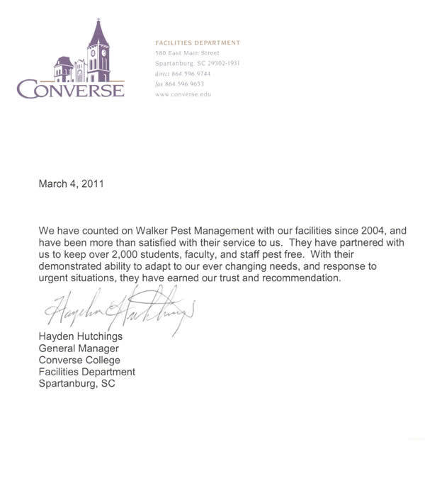 letters of recommendation for college converse college letter of recommendation 23373